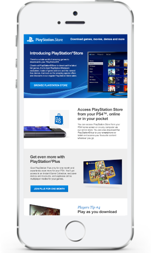 Example email project for PS4